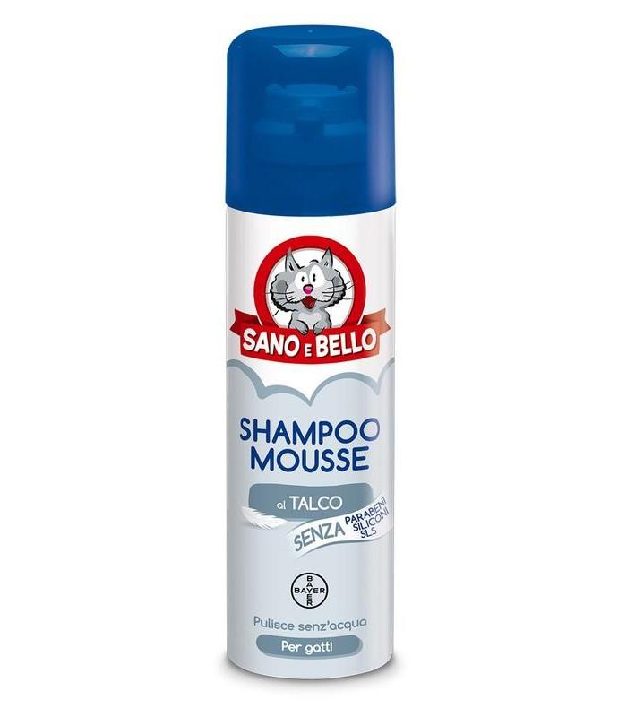 Bayer Shampoo Mousse al Talco per Gatti 200 ml