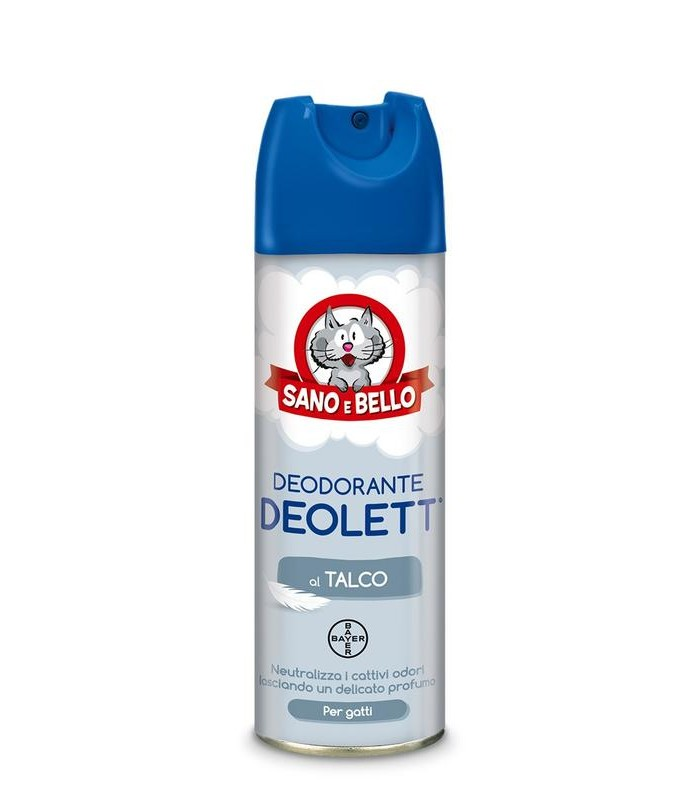 Bayer deodorante deolett al talco spray 200 ml sano & bello