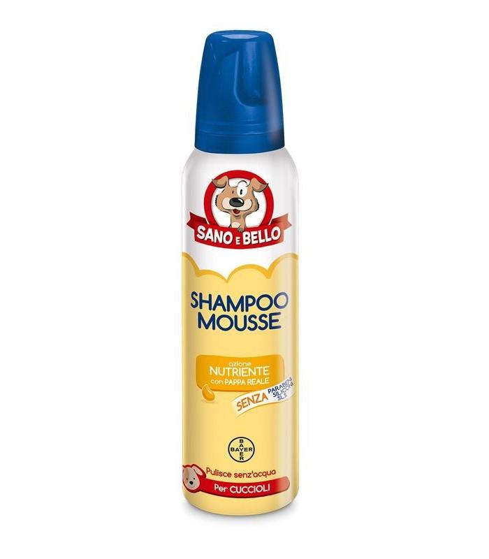 Bayer Shampoo Mousse Pappa Reale per Cuccioli 300 ml sano & bello