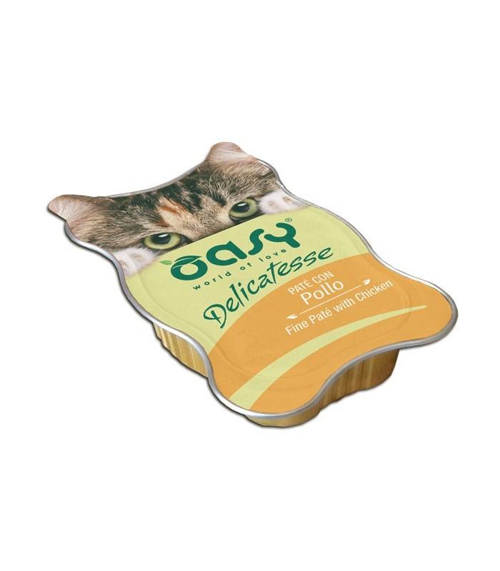 Oasy gatto delicatesse pate con pollo vaschetta 85 gr