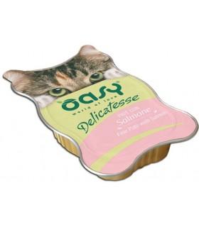 Oasy gatto delicatesse pate con salmone vaschetta 85 gr