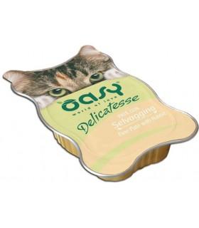Oasy gatto pate selvaggina vaschetta 85 gr