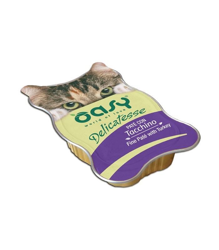 Oasy gatto delicatesse pate con tacchino vaschetta 85 gr