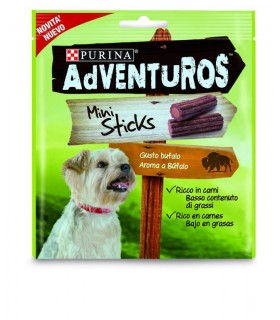 Purina adventuros mini sticks gusto bufalo 90 gr