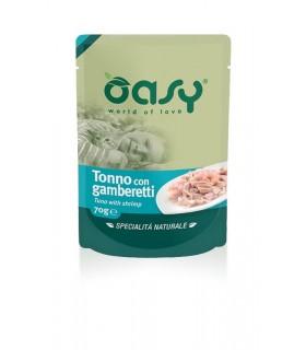 Oasy gatto wet bustina tonno con gamberetti 70 gr
