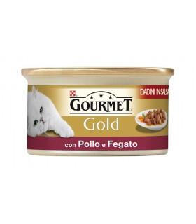 Gourmet gold dadini in salsa con pollo e fegato 85 gr