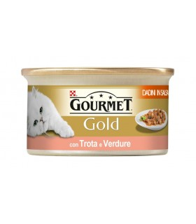 Gourmet gold dadini in salsa con trota e verdure 85 gr
