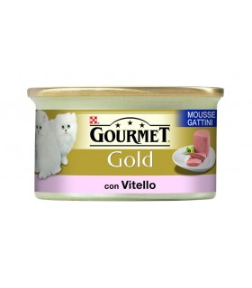 Gourmet gold mousse gattini con vitello 85 gr