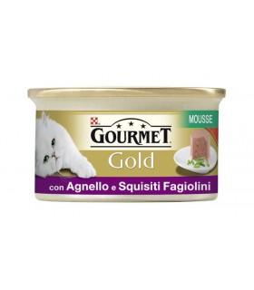 Gourmet gold mousse con agnello e squisiti fagiolini 85 gr
