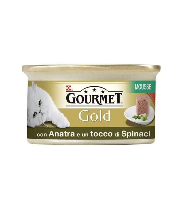Gourmet gold mousse con anatra e spinaci 85 gr