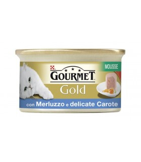 Gourmet gold mousse con merluzzo e delicate carote 85 gr