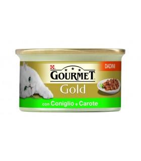 Gourmet gold dadini con coniglio e carote 85 gr
