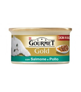 Gourmet gold dadini con salmone e pollo 85 gr