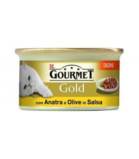 Gourmet gold dadini con anatra e olive in salsa 85 gr