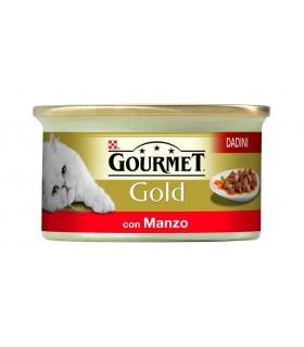 Gourmet gold dadini con manzo 85 gr