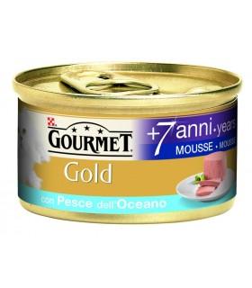 Gourmet gold senior mousse con pesce dell'oceano 85 gr