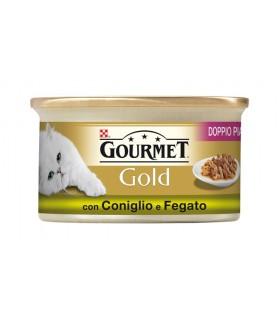 Gourmet gold doppio piacere con coniglio e fegato 85 gr