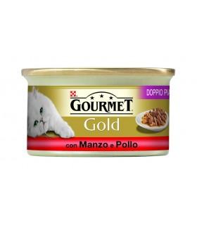 Gourmet gold doppio piacere con manzo e pollo 85 gr