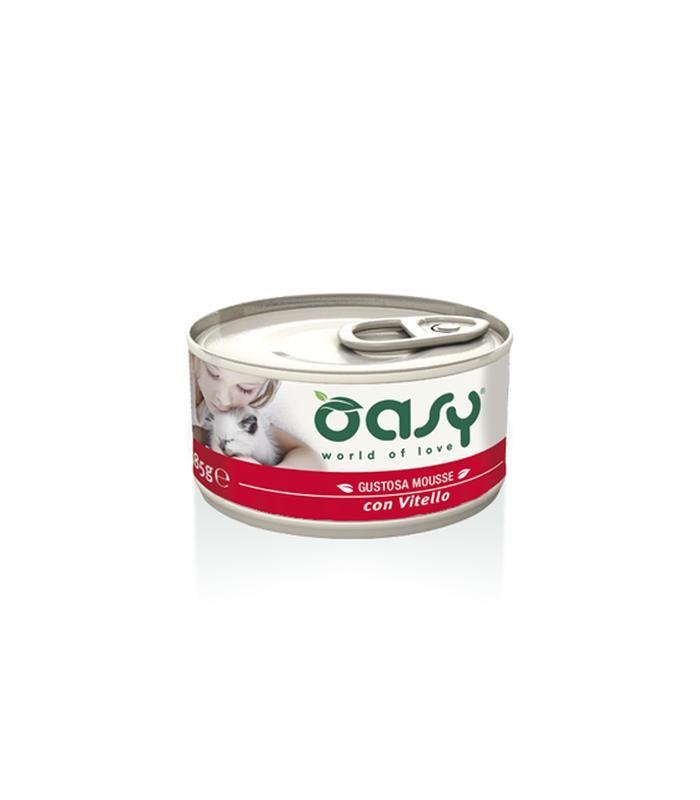 Oasy gatto mousse vitello 85 gr