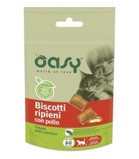 Oasy snack gatto biscotti ripieni con pollo 60 gr