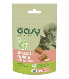 Oasy snack gatto biscotti ripieni con salmone 60 gr