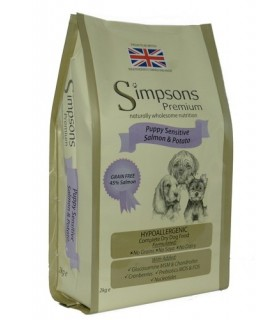 Simpsons Premium puppy sensitive salmone e patate 12 kg