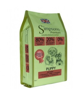 Simpsons Premium puppy 80/20 mix pesce e pollo 2 kg