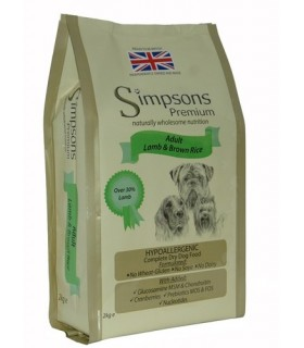 Simpsons Premium cane adult agnello e riso integrale 2 kg