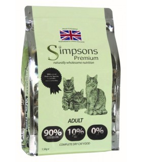 Simpsons Premium gatto adult 90/10 mix pollo, pesce e tacchino 1,5 kg