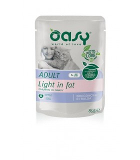 Oasy gatto wet bustina bocconcini light in fat 85 gr