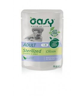 Oasy gatto wet bustina bocconcini sterilized pollo 85 gr