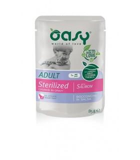 Oasy gatto wet bustina bocconcini sterilized salmone 85 gr
