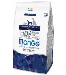 Monge cane adult medium pollo 12 kg