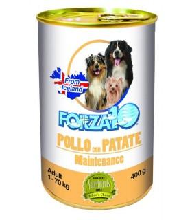 Forza 10 cane adult mantenimento pollo con patate 400 gr