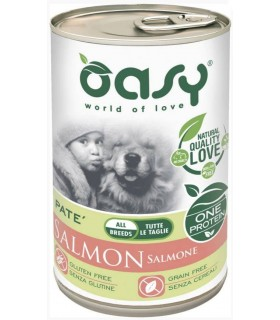 Oasy cane adult salmone umido 400 gr