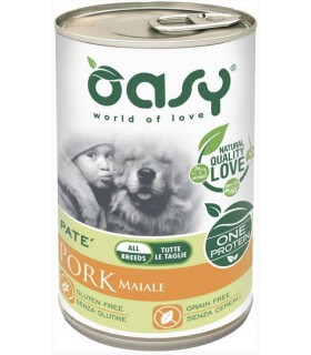 Oasy cane adult maiale umido 400 gr