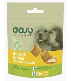 Oasy snack cane biscotti ripieni con anatra e patate 80 gr
