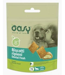 Oasy snack cane biscotti ripieni dental fresh 70 gr