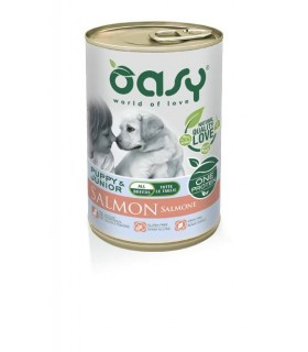 Oasy cane puppy & junior all breeds salmone umido 400 gr