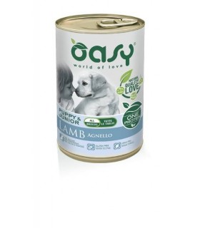 Oasy cane puppy & junior all breeds agnello umido 400 gr