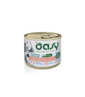 Oasy cane puppy & junior mini salmone umido 200 gr