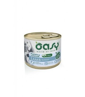Oasy cane puppy & junior mini agnello umido 200 gr