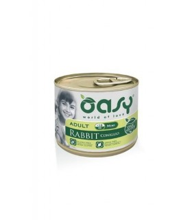 Oasy cane adult mini coniglio umido 200 gr