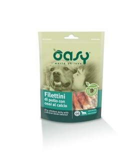 Oasy snack cane filettini di pollo con ossi al calcio 100 gr