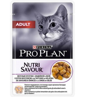 Purina proplan gatto adult nutrisavour con tacchino 85 gr