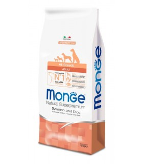 Monge cane adult all breeds salmone e riso 12 kg