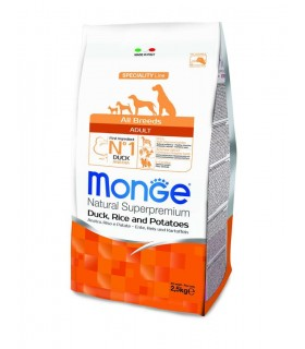 Monge cane adult all breeds anatra riso e patate 2,5 kg