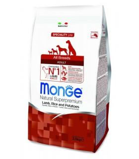 Monge cane adult all breeds agnello riso e patate 2,5 kg
