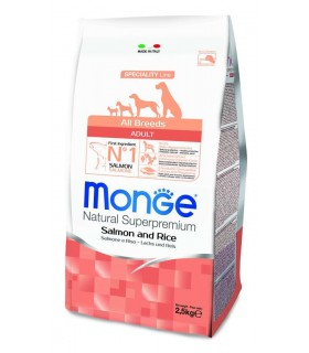 Monge cane adult all breeds salmone e riso 2,5 kg