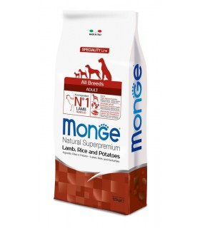 Monge cane adult all breeds agnello riso e patate 12 kg